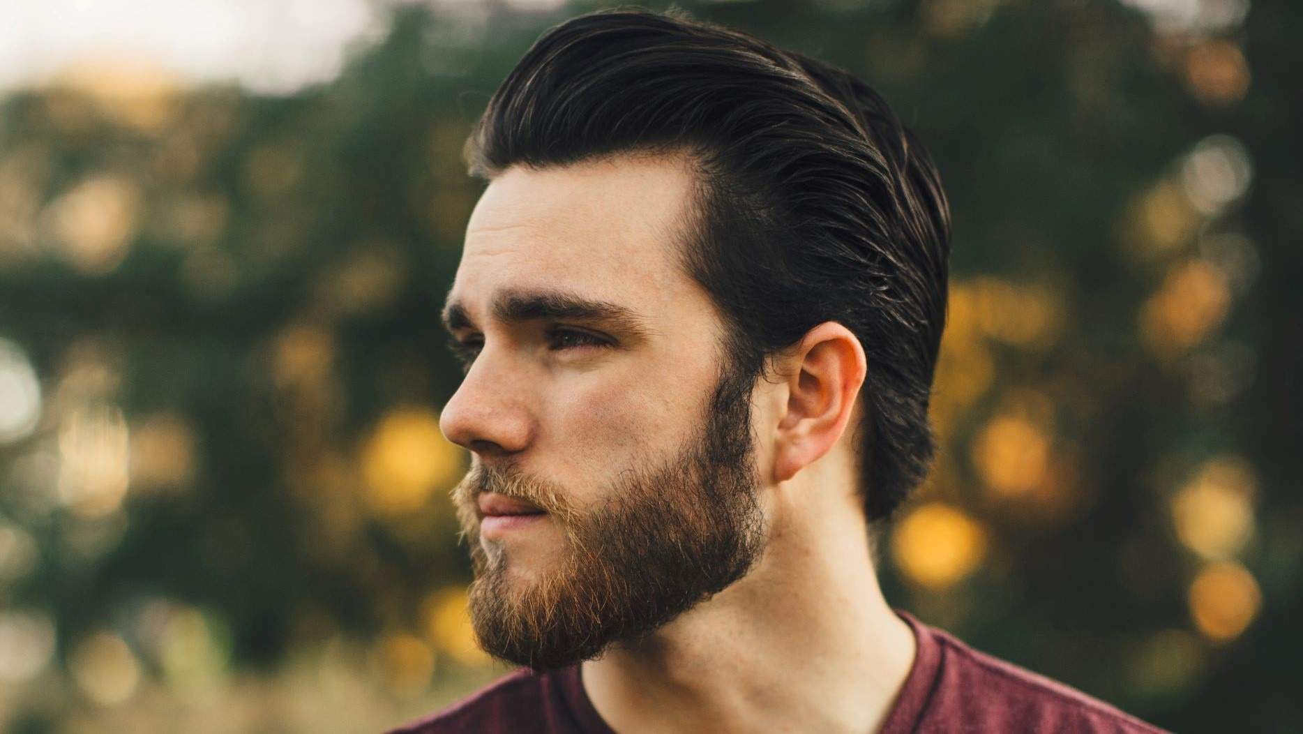 guy with receding hairline